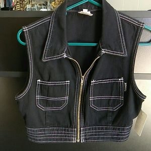 Bongo Medium Black Denim Vest